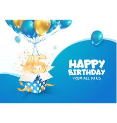 celebrating 45th years birthday vector image