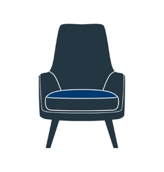 Chair seat armchair stool vector