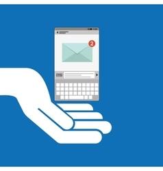 Concept email social media icon vector