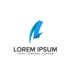 creative letter a logo design concept template vector image