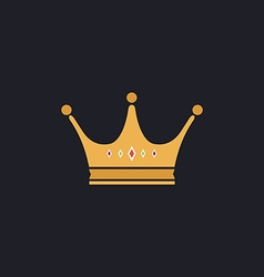 Crown computer symbol vector image