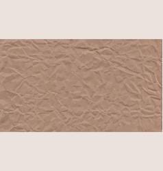 Crumpled kraft paper textured vintage background vector