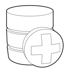 Diagnosis database icon outline style vector