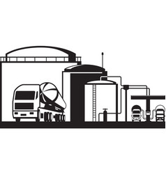 Distribution oil depot vector