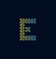E circuit technology letter logo icon design vector