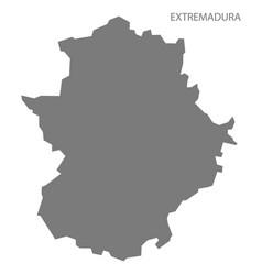 extremadura spain map grey vector image