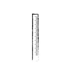 figure school ruler object design to education vector image vector image