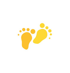Footprint flat color vector