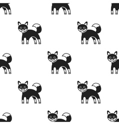 Fox icon in black style isolated on white vector