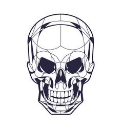 geometric style skull head ilustration vector image