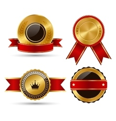 Golden Red Black Premium Quality Best Labels vector image
