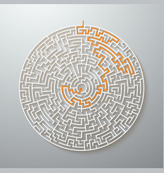 Greek maze puzzle challenge with solution vector