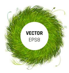 Green grass circle background vector