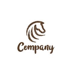 Grunge abstract horse logo vector