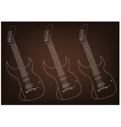 guitar on a brown vector image