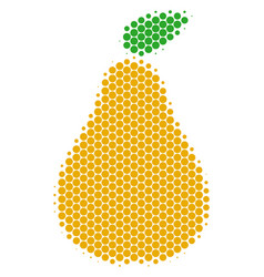 halftone dot pear icon vector image