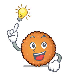 have an idea cookies mascot cartoon style vector image
