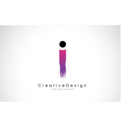 I letter logo design with creative pink purple vector