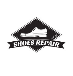 Image of logo of shoe repair services vector