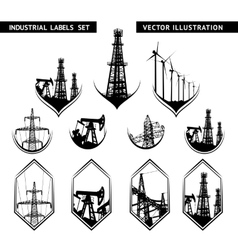 Industrial Lable Set vector image