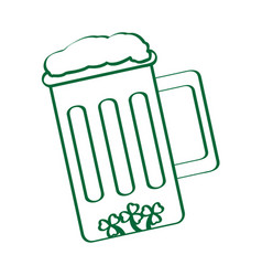 isolated beer mug outline vector image