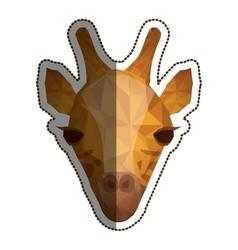 Isolated polygonal giraffe design vector