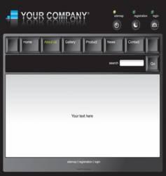 Keyboard template vector
