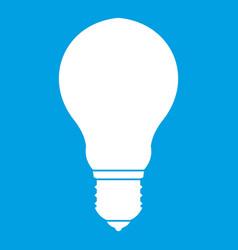 Light bulb icon white vector