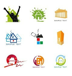 Logo element real estate vector image