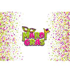 mardi gras comic text pop art vector image