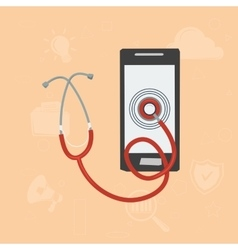 Mobile doctor concept vector