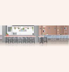 modern cafe interior empty no people restaurant vector image