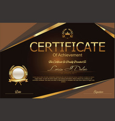 Modern certificate or diploma template 11 vector