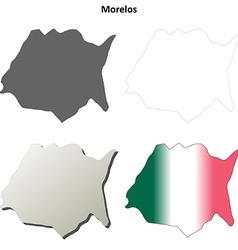 Morelos blank outline map set vector