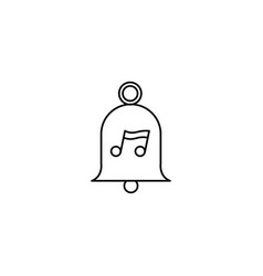 music bell icon vector image