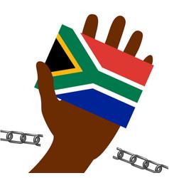 Nelson mandela international day 18 july flag vector