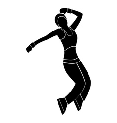 Nice dance simple symbol vector image