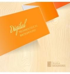 Orange paper vector image