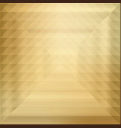 Pattern geometric on gold background vector