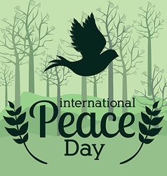 Peace design over green background vector