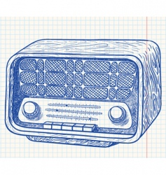 radio vector image