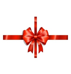 red ribbons and bow vector image
