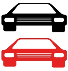 retro american car symbol vector image