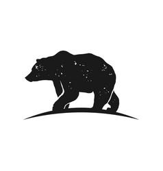 rustic bear logo vector image