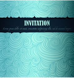 Sea theme invitation vector image