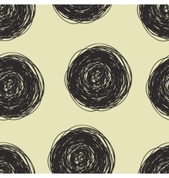 Seamless pattern with scribbles circles vector