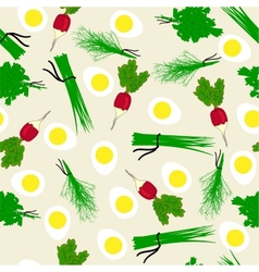Seamless vegetables garden radish vector image
