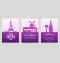 set of france country ornament vector image