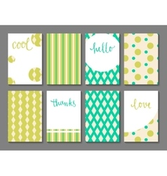 Set of printable journaling cards vector image