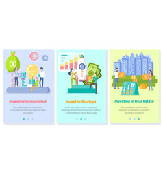 Set on topic investing vector
